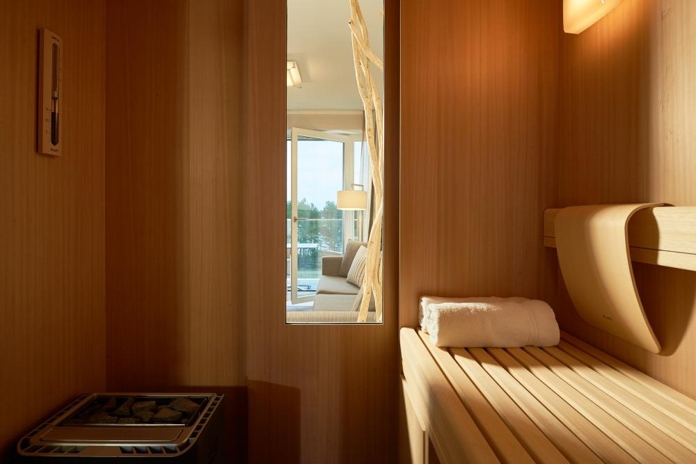Die Sauna mit Blick aufs Meer