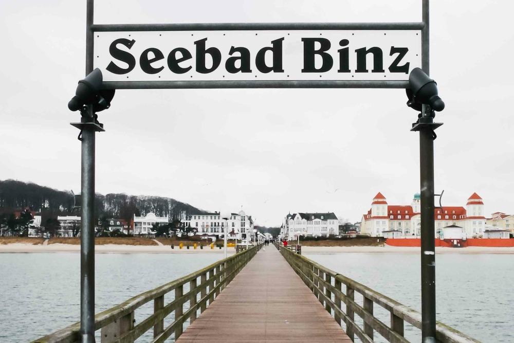 Die Seebrücke in Binz auf Rügen